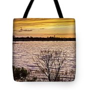 Sunset On The Wetlands Tote Bag