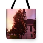 Sunset On The Whitefield Methodist Church Tote Bag