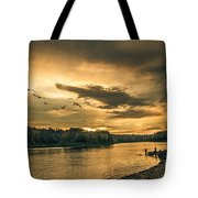 Sunset On The Willamette River Tote Bag