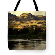 Sunset On The Yellowstone Tote Bag by Marty Koch