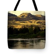 Sunset On The Yellowstone Tote Bag