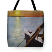 Sunset On The York River Tote Bag