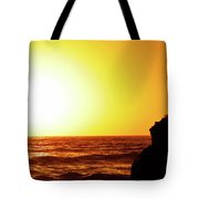 Sunset On Wall Beach Tote Bag