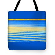 Sunset On Waves Tote Bag