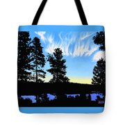 Sunset On Wickiup Tote Bag