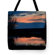 Sunset On Willow Pond Tote Bag