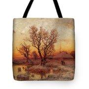 Sunset Over A Ukrainian Hamlet Tote Bag