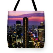 Sunset Over Bangkok Tote Bag