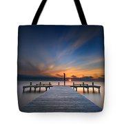 Sunset Over Barnegat Bay Tote Bag