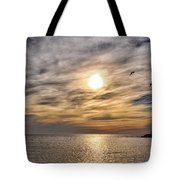 Sunset Over Bay Tote Bag
