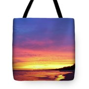 Sunset Over Beach Tote Bag