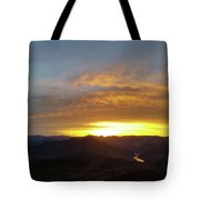 Sunset Over Black Canyon And River #1 Tote Bag