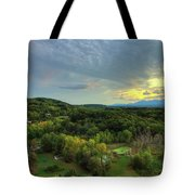 Sunset Over Blue Hill Tote Bag