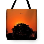 Sunset Over Botswana Tote Bag