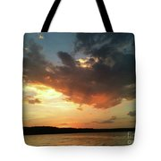Sunset Over Bridgeport Lake Tote Bag