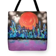 Sunset Over Capital Square Tote Bag