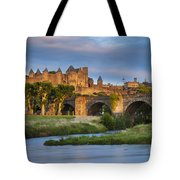 Sunset Over Carcassonne Tote Bag