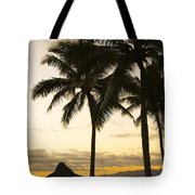 Sunset Over Chinamans Hat Tote Bag