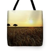 Sunset Over Cornfield Tote Bag