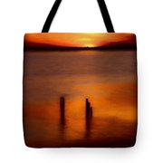 Sunset Over Currituck Sound Ap Tote Bag