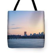 Sunset Over Downtown Manhattan Tote Bag
