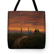 Sunset Over Dresden Tote Bag