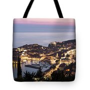Sunset Over Dubrovnik In Croatia Tote Bag