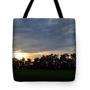 Sunset Over Farm And Trees Tote Bag