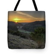 Sunset Over Forest Tote Bag