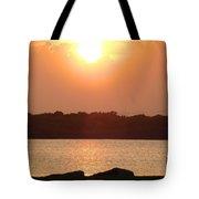 Sunset Over Galveston Bay Tote Bag