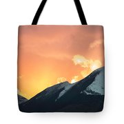 Sunset Over Grisedale Pike And The Coledale Horsehoe, Lake Distr Tote Bag