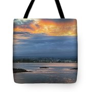 Sunset Over Hilo Tote Bag