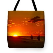 Sunset Over Indiana Dunes Tote Bag
