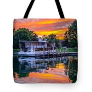 Sunset Over Judge Ben Tote Bag