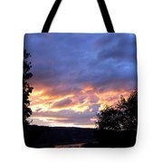 Sunset Over Kalamalka Tote Bag