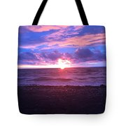 Sunset Over Lake Erie Tote Bag