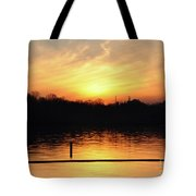 Sunset Over Lake Tote Bag