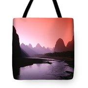 Sunset Over Li River Tote Bag