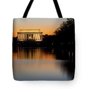Sunset Over Lincoln Memorial Tote Bag