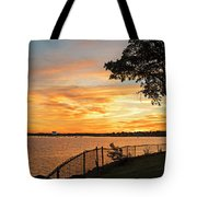 Sunset Over Lynch Park Beverly Ma Water Tower Tote Bag
