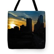 Sunset Over Main Street Tote Bag