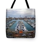 Sunset Over Marina Tote Bag