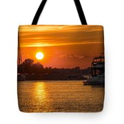 Sunset Over Marina Tote Bag