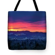 Sunset Over Marquam Hill Tote Bag