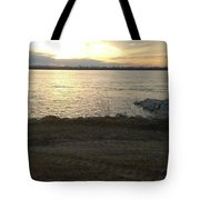 Sunset Over Mississippi River Tote Bag