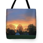 Sunset Over North Common Meadow Tote Bag
