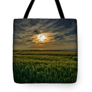 Sunset Over North Pas De Calais In France Tote Bag