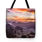 Sunset Over Rio De Janeiro  Tote Bag