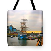 Sunset Over River  Liffey 2 Tote Bag