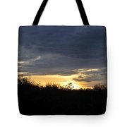 Sunset Over Rural Field Tote Bag